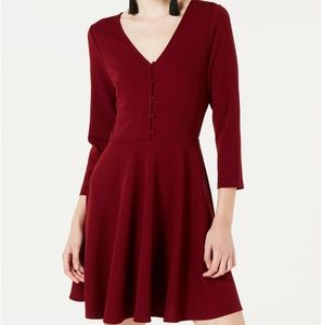 Planet Gold Fit & Flare Dress, M